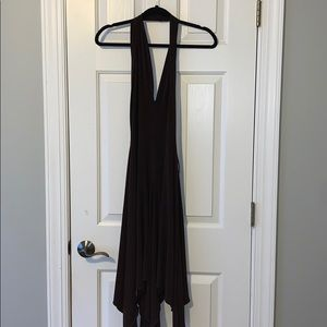 Brown flowy dress